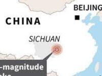 চীনের সিচুয়ানে ভূ-পৃষ্ঠের স্বল্প গভীরে শক্তিশালী ভূমিকম্পে নিহত ২, আহত অনেক
